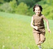 Closeup portrait of a little happy boy Stock Photos