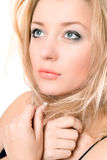 Closeup portrait of a lovely pretty blonde Royalty Free Stock Photo