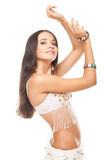 Closeup portrait lovely woman belly dancer Royalty Free Stock Photos