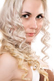 Closeup portrait of lovely young blonde Royalty Free Stock Photo