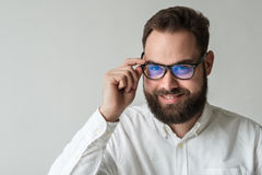 Closeup portrait of man with beard Royalty Free Stock Photo