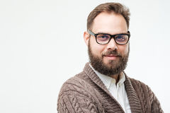 Closeup portrait of man with beard Stock Photos