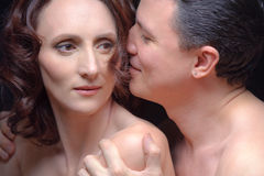 Closeup portrait of man and woman Stock Photo