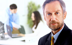 Closeup portrait of mature business Stock Images
