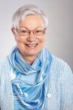 Closeup portrait of mature woman smiling Stock Image