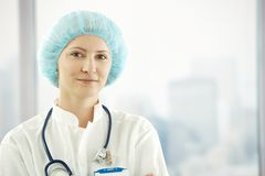 Closeup portrait of medical doctor Royalty Free Stock Image