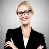 Closeup portrait of a middle aged businesswoman Royalty Free Stock Photography