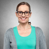 Closeup portrait of middle aged woman Stock Photo