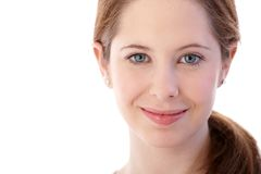 Closeup portrait of natural beautiful face smiling Royalty Free Stock Photography