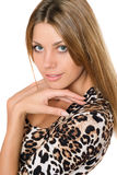 Closeup portrait of nice young blonde Royalty Free Stock Image