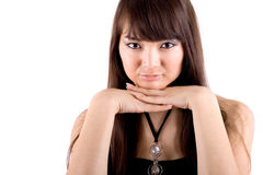 Closeup Portrait Of A Woman Stock Photo