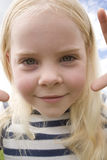 Closeup Portrait Of Little Girl Outdoor Stock Image