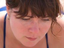 Closeup Portrait Of Woman Stock Image