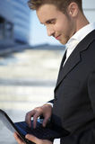 Closeup Portrait Of Young Businessman Royalty Free Stock Image