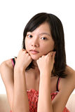Closeup portrait of oriental beauty Royalty Free Stock Image