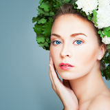 Closeup Portrait of Perfect Woman Spa Model Royalty Free Stock Photos
