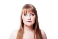 Closeup portrait picture woman Stock Photography