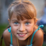 Closeup portrait of a playful cute little girl. Happy. Stock Photography