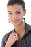 Closeup portrait of pretty businesswoman Stock Photos