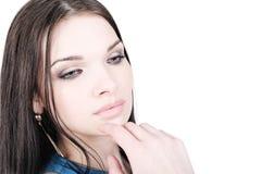 Closeup portrait of a pretty girl Stock Photography