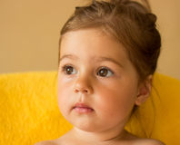 Closeup portrait of pretty little girl Royalty Free Stock Photography