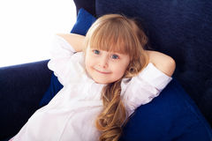 Closeup portrait of pretty little girl Royalty Free Stock Photo