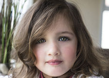 Closeup portrait of pretty little girl Royalty Free Stock Photos