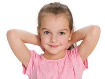 Closeup portrait of a pretty little girl Stock Photos