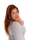 Closeup portrait of pretty woman. Stock Images