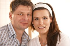 Closeup portrait of romantic couple Royalty Free Stock Images