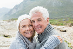 Closeup portrait of a romantic senior couple Stock Photography