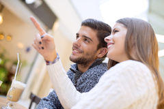 Closeup portrait of a romantic young couple Royalty Free Stock Photography