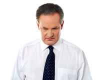 Closeup portrait of sad businessman Stock Photography