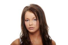 Closeup portrait of sad woman. Stock Photos