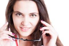 Closeup portrait of seductive doctor Stock Images
