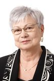 Closeup portrait of senior lady Stock Photography