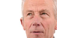 Closeup portrait of senior man royalty free stock images