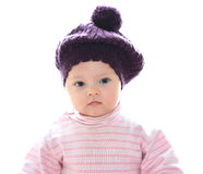 Closeup portrait of serious baby Royalty Free Stock Image