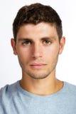 Closeup portrait of serious young man Stock Photo