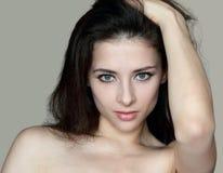 Closeup portrait of sexy beautiful woman Royalty Free Stock Photos