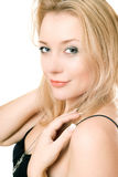 Closeup portrait of a young blonde Royalty Free Stock Photo