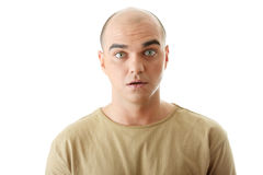 Closeup portrait of a shocked young man Stock Image
