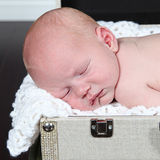 Closeup portrait of sleeping baby Stock Images