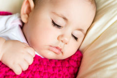 Closeup portrait of sleeping baby Royalty Free Stock Image