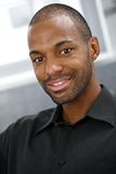 Closeup portrait of smiling black man Royalty Free Stock Photo