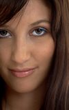 Closeup portrait of smiling brunette Royalty Free Stock Images
