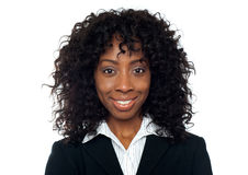 Closeup of portrait of smiling businesswoman Royalty Free Stock Photo