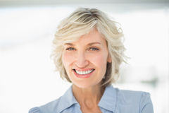 Closeup portrait of a smiling businesswoman Stock Images