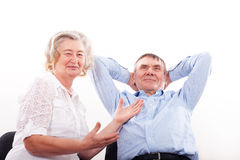 Portrait of smiling elderly couple Royalty Free Stock Image