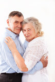Portrait of smiling elderly couple Royalty Free Stock Photo